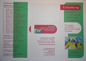 Einladung Ausstellung Europaunion 2012